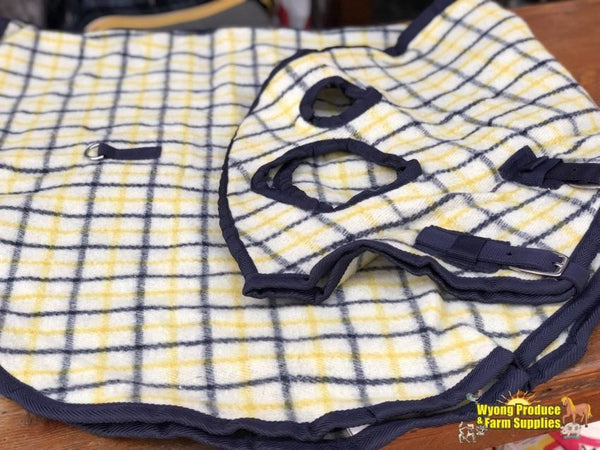 Wool Hood Pony Yellow/navy Check New (Wp)