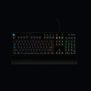 Logitech G213 Gaming Keyboard with  Dedicated Media Controls, 16.8 Million Lighting Colors Backlit Keys, Spill-Resistant and Durable Design
