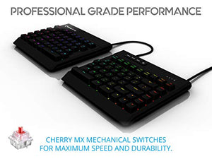 KINESIS Gaming Freestyle Edge RGB Split Mechanical Keyboard (MX Red)
