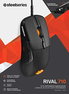 SteelSeries Rival 710 Gaming Mouse - 16,000 CPI TrueMove3 Optical Sensor - OLED Display - Tactile Alerts - RGB Lighting