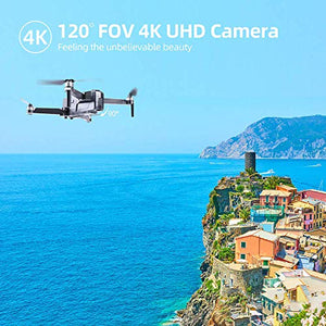 60Mins GPS Drones with Camera for Adults Long Flight Time 4K Photo1080P Video, Ruko F11 FPV Drone Quadcopter Drone for Beginners 2500mAh Battery Brushless Motor-Black (1 Extra Battery+Carry Case)