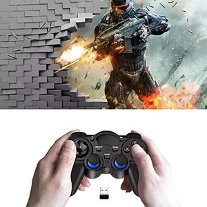 EIFFTER USB Wireless Gaming Controller Gamepad for PC/Laptop Computer(Windows XP/7/8/10) & PS3 & Android & Steam (Black1)