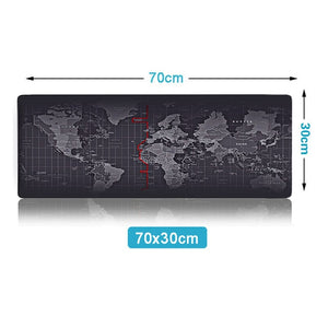ZUOYA  Large Mouse Pad Old World Map Gaming Mousepad Anti-slip Natural Rubber with Locking Edge Gaming Mouse Mat
