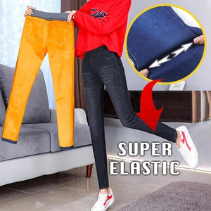 Women Winter Fleece Jeans
