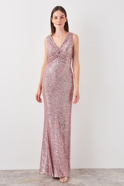 Mira Sequin Dress Blush