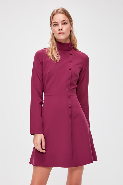 Aria Dress Burgundy