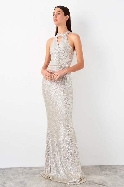 Jessica Dress Sequin Gold