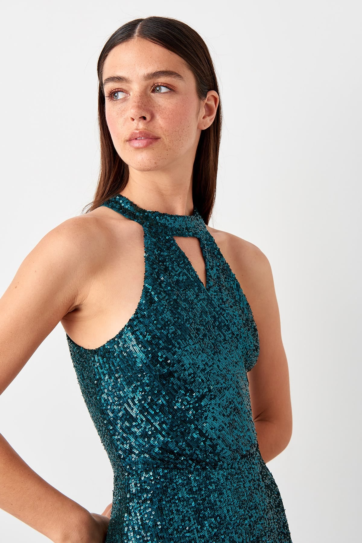 Jessica Dress Sequin Green