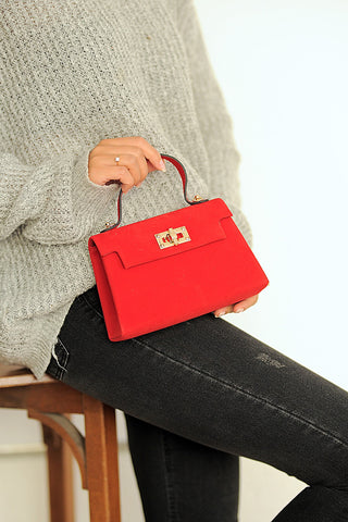Samantha Red Suede