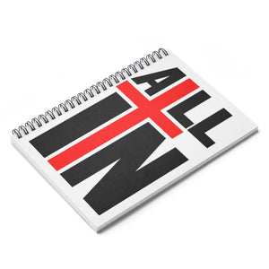 """ALL IN"" Logo Spiral Notebook - Ruled Line"