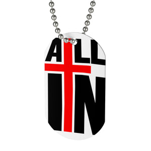 """ALL IN"" Logo Dog Tag"