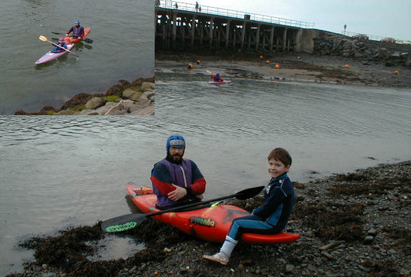 Young Gareth first paddle strokes