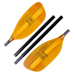 Werner Sherpa Paddle - 4 Piece Straight Shaft - Glass Blades
