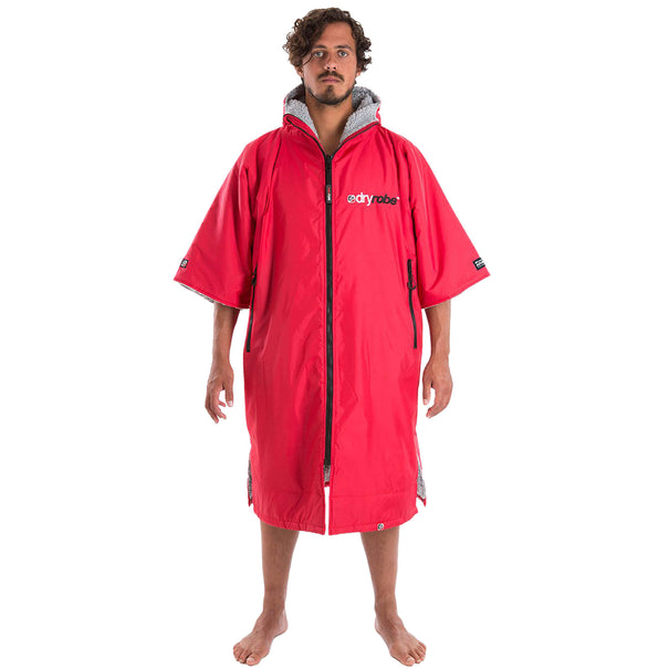 Dryrobe Red Short Sleeved Changing Robe