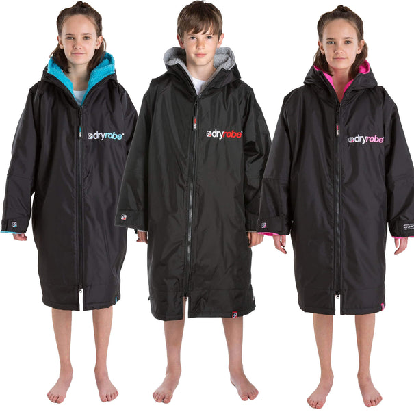 Dryrobe Kids Black Long Sleeved Changing Robe