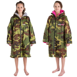 Dryrobe Kids Camo Long Sleeved Changing Robe