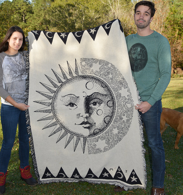 Sun and Moon Throw