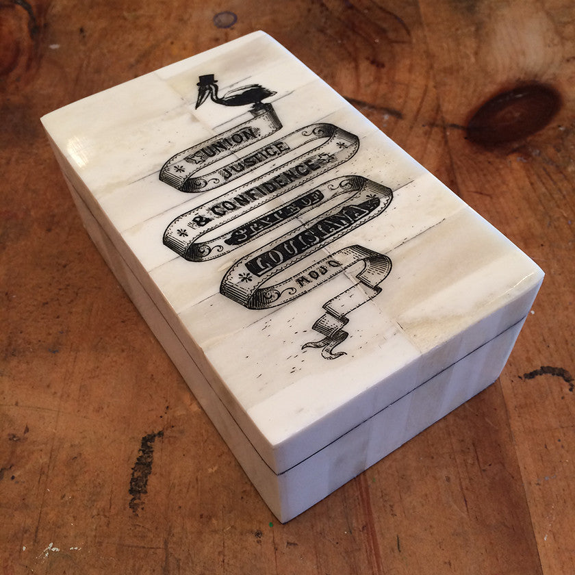 "Mojo's ""Louisiana Banner"" bone box"