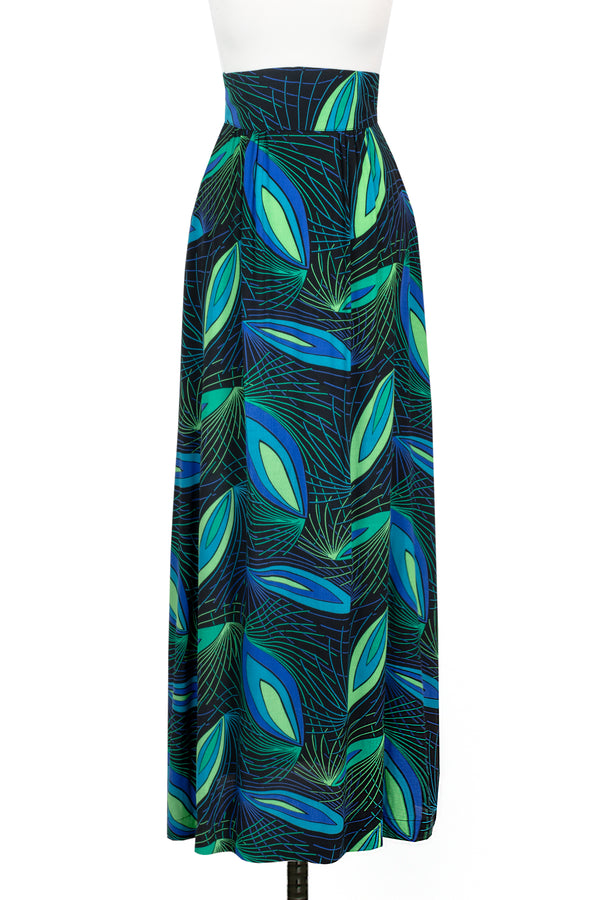 1970s Maxi Skirt - Deco Peacock