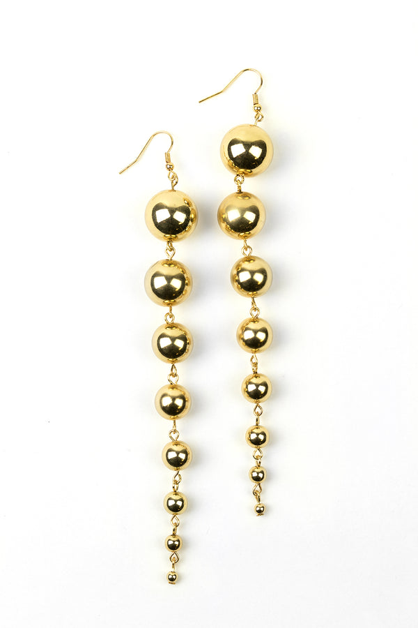 Graduated Metal Ball Chain Earrings