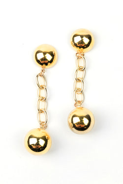 Chunky Ball Drop Earrings