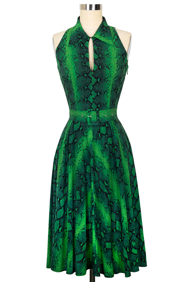 Moto Dress - Green Snake - Final Sale