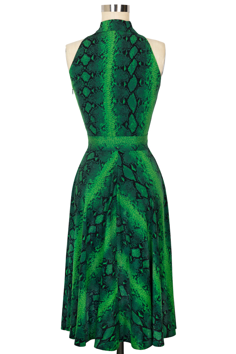 Moto Dress - Green Snake