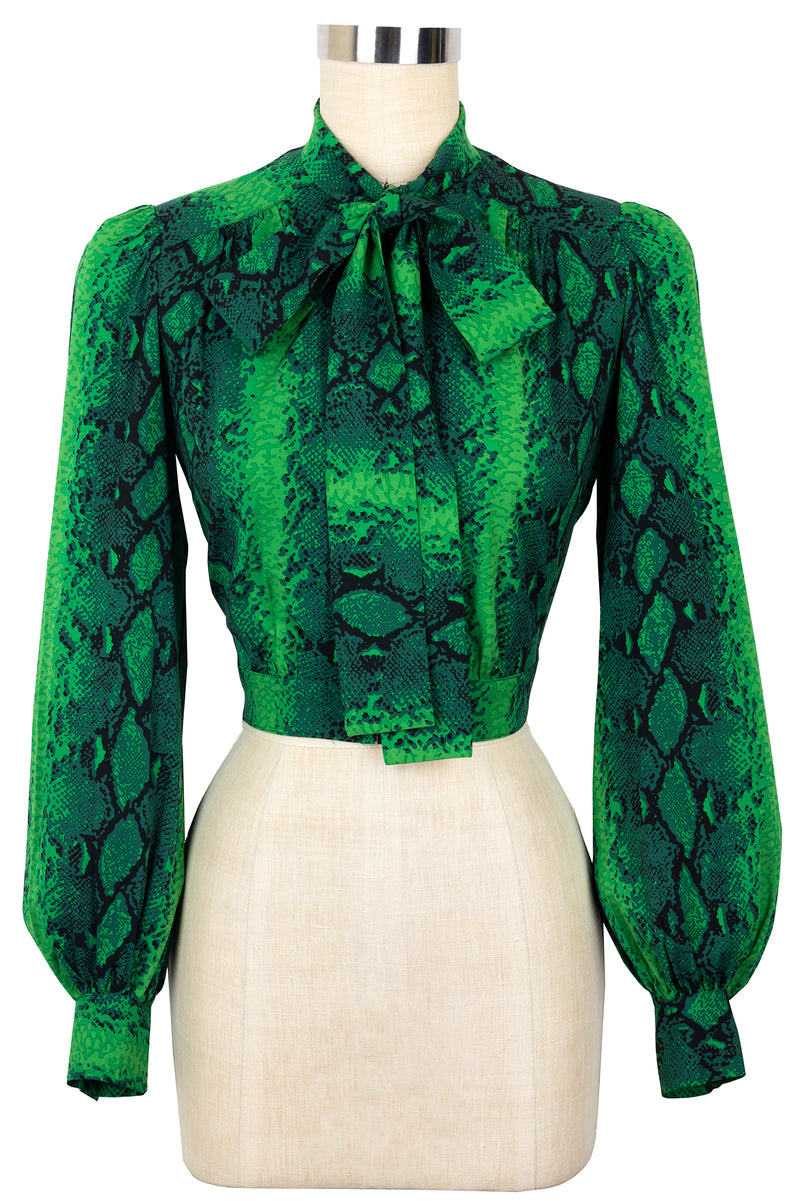 Secretary Blouse - Green Snake