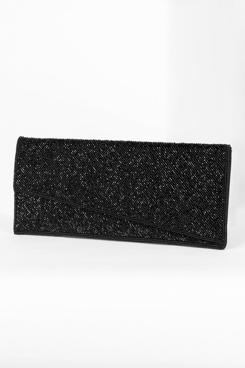 All Beaded Asymmetrical Clutch