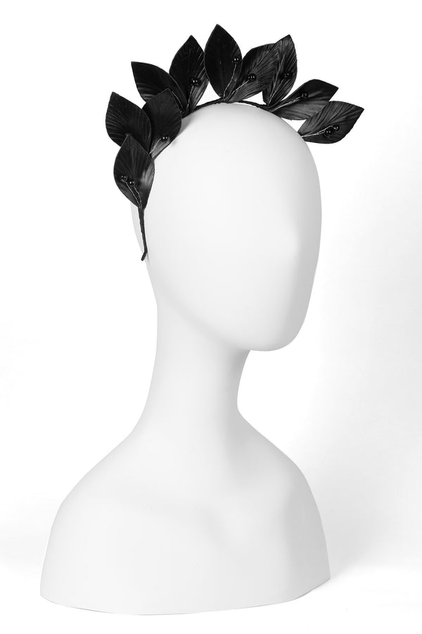 Black Leaves Headband