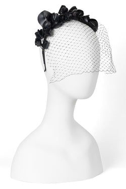 Rosebud Headband with Veil