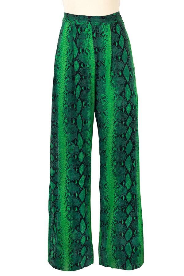 Lounge Pants - Green Snake - Final Sale