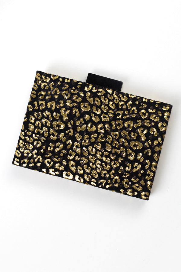 RD Golden Leopard Box Bag