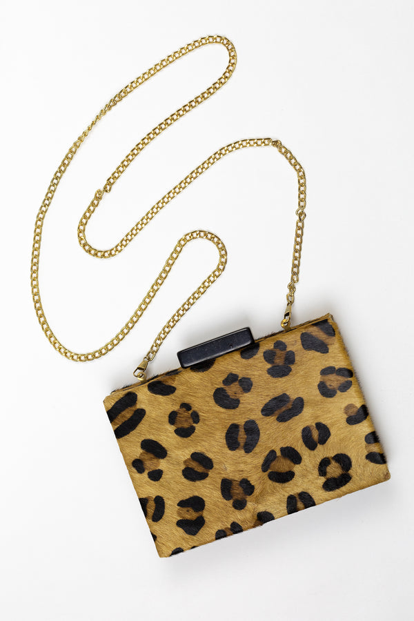 RD Leopard Leather Box Bag
