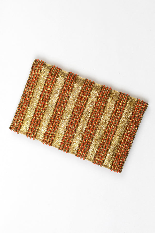 RD Beaded Hammered Dabka Clutch