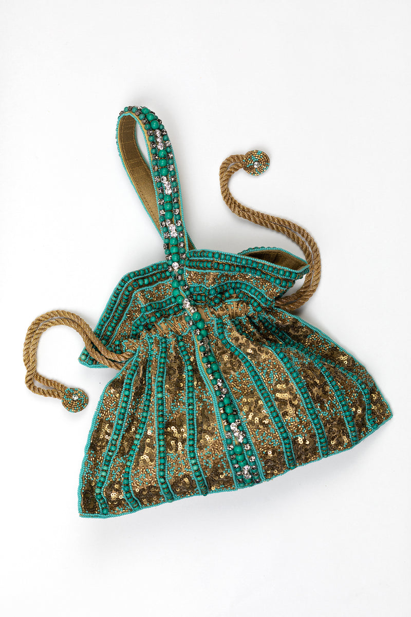 RD Beaded Draw String Purse