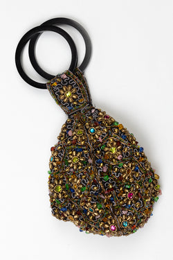 RD Beaded Ring Pouch Wristlet