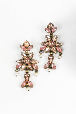 De Luxe Flower Drop Earrings