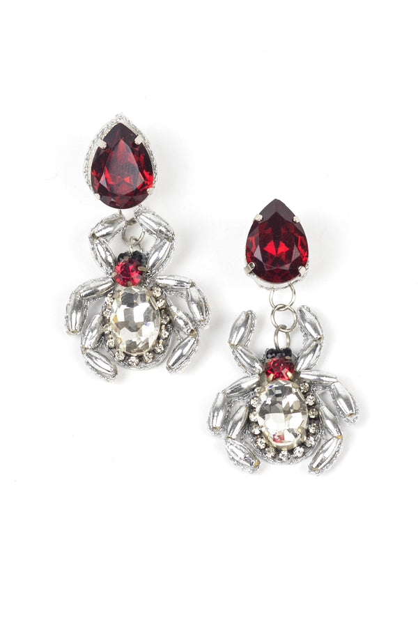 Spider Gem Earrings