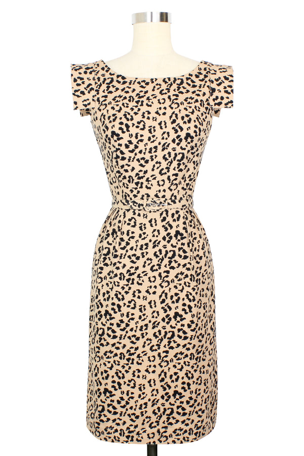 Doren Pencil Dress - Caramel Cat