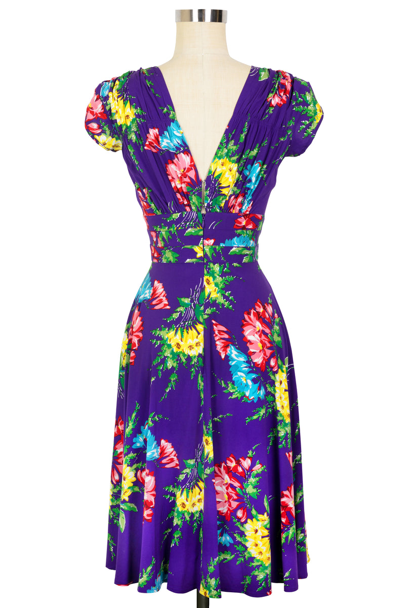 1940s Dress - Bold Bouquet