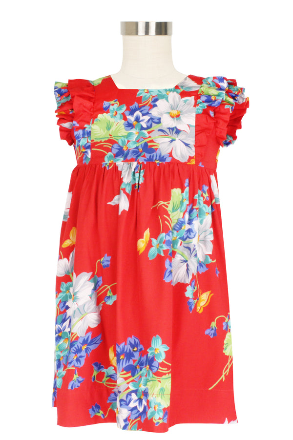 Penny Dress - Butterflies & Begonias