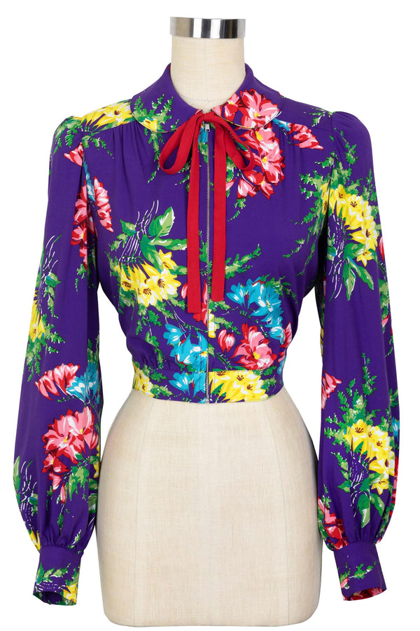 Chorus Girl Long Sleeve Top - Bold Bouquet