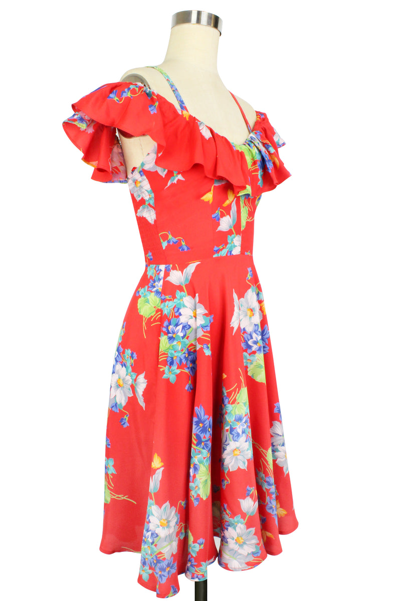 Hollywood Circle Dress - Butterflies & Begonias