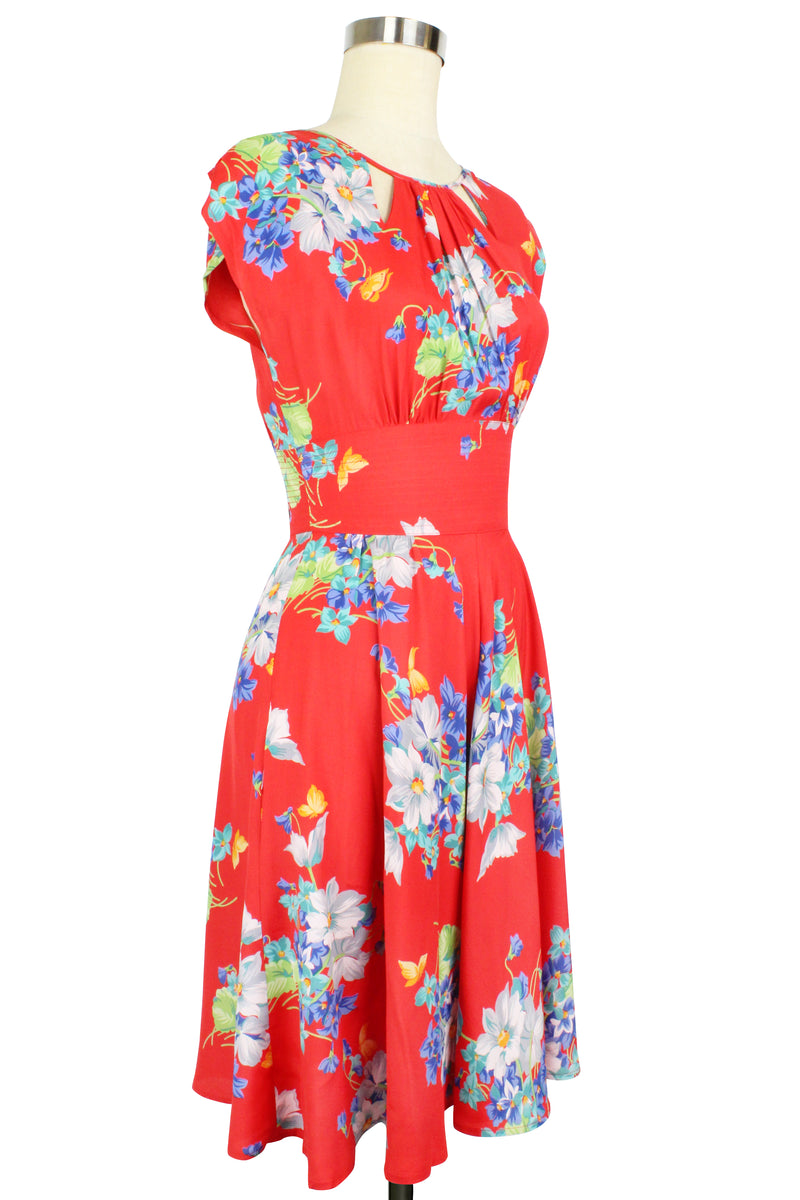 Jaclyn Dress - Butterflies & Begonias