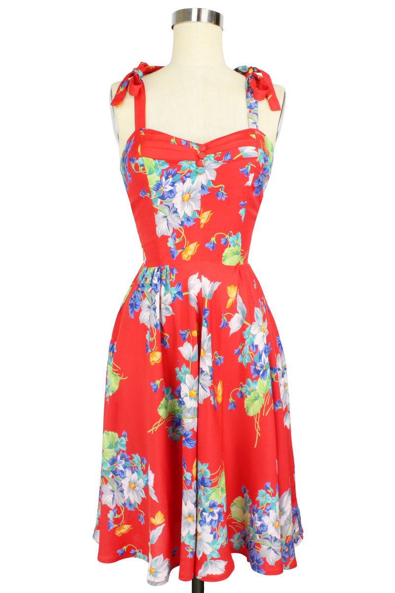 Lucy Dress - Butterflies & Begonias