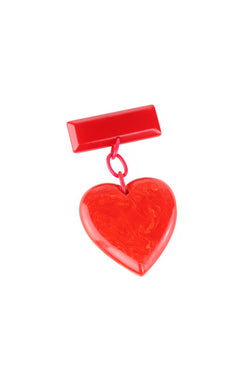 WW2 Vintage Bakelite Heart Pin