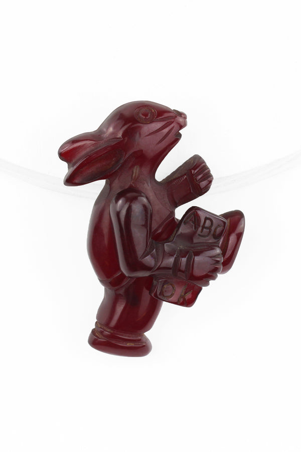 Bakelite Estate - Back to School Bunny Pin