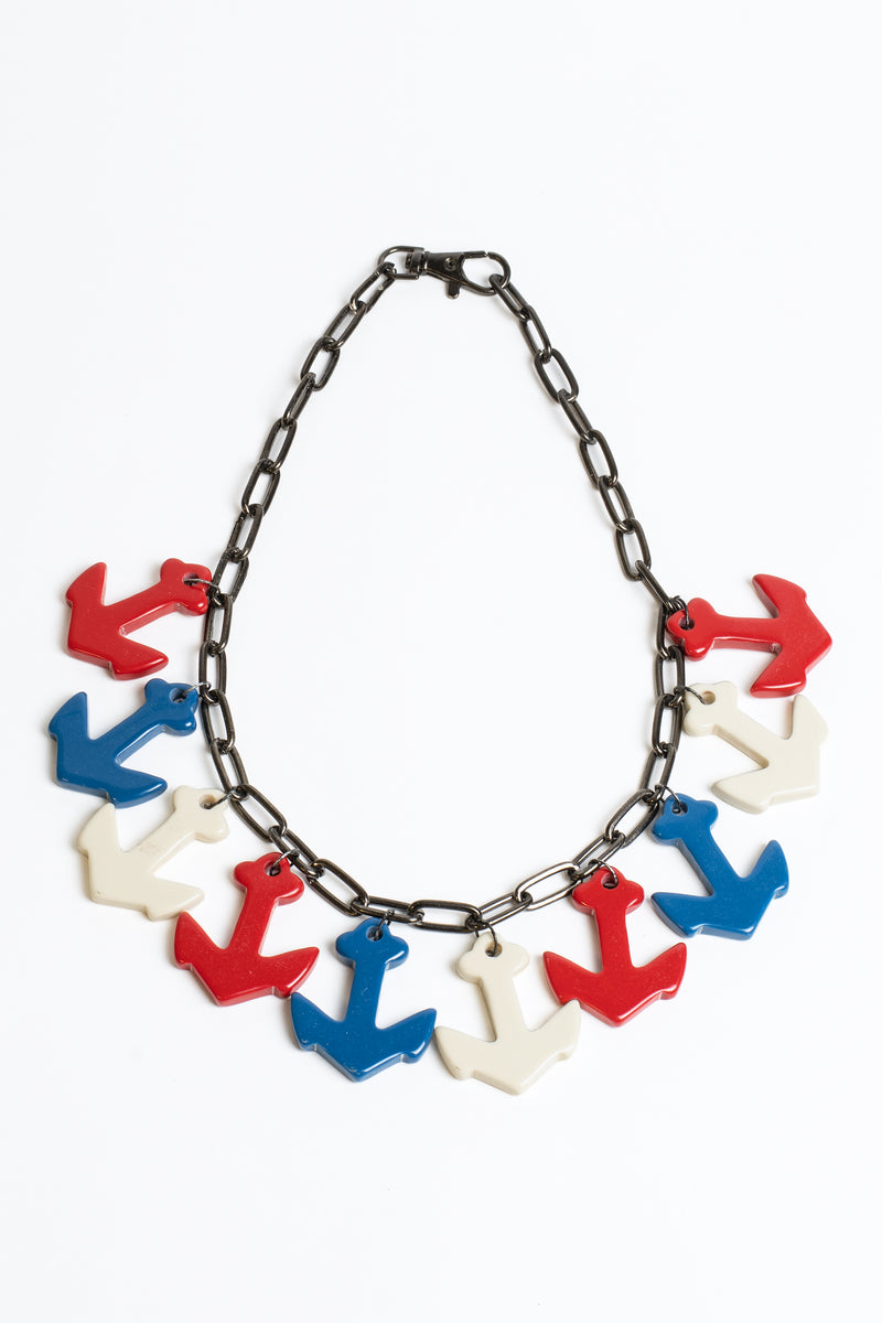 Bakelite Lady Anchors Necklace