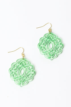 Zenzii Baroque Tile Earrings